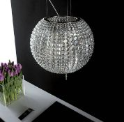 1 x Elica Celestial Island Glass Prism Spherical Extractor Hood Light - CL380 - Includes Suspended
