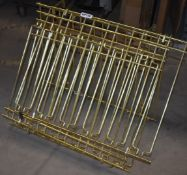 4 x Wall Mounted Wine Glass Racks Finished in Brass - Size W60 x D47 cms - CL011 - Ref KP139 A5A -