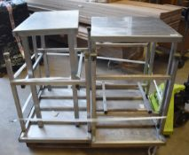4 x Stainless Steel prep Tables - Sizes Include 46x76cm, 61x61cm and 96x36cm - CL282 - Ref LF272 A4D
