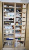 1 x Upright Storage Cupboard and With Internal Shelves and Drawers - CL489 - Location: Putney,