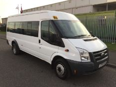 2010 Ford Transit 430 EL 17 Seater Minibus C.O.I.F 135 PS 2.4- CL505 - Location: Corby,