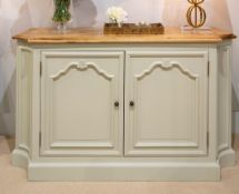 1 x Halland Two Door Sideboard With Reclaimed Oak Top - RRP £2,449!