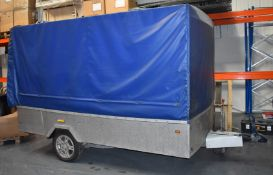 1 x Customised 10x6ft Tow Trailer With Aluminium Frame Enclosure and Heavy Duty Cover, BP WS3000