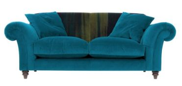 1 x Lytton Mallard Sofa Upholstered in Harlequin Velvet Fabric - RRP £1,259!