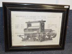 3 x Framed Art Prints Of Bygone Machinery - Dimensions: W75 x H59cm - Ref: Ma405 - CL481 - Location: