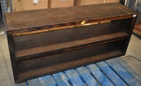 1 x Large Wooden Shelf With Dark Finish - Approx 140cm Wide - CL999 - Ref MB178 D8C - Location: