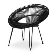 1 x Cruz Lazy Chair in Black By Vincent Shepherd - Perfect For Contemporary Interiors - RRP £375!