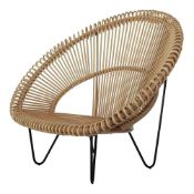 1 x Cruz Cocoon Natural Rattan Tub Chair By Vincent Shepherd - RRP £490!