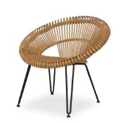 1 x Cruz Lazy Chair By Vincent Shepherd - Natural Rattan - For Contemporary Interiors - RRP £375!