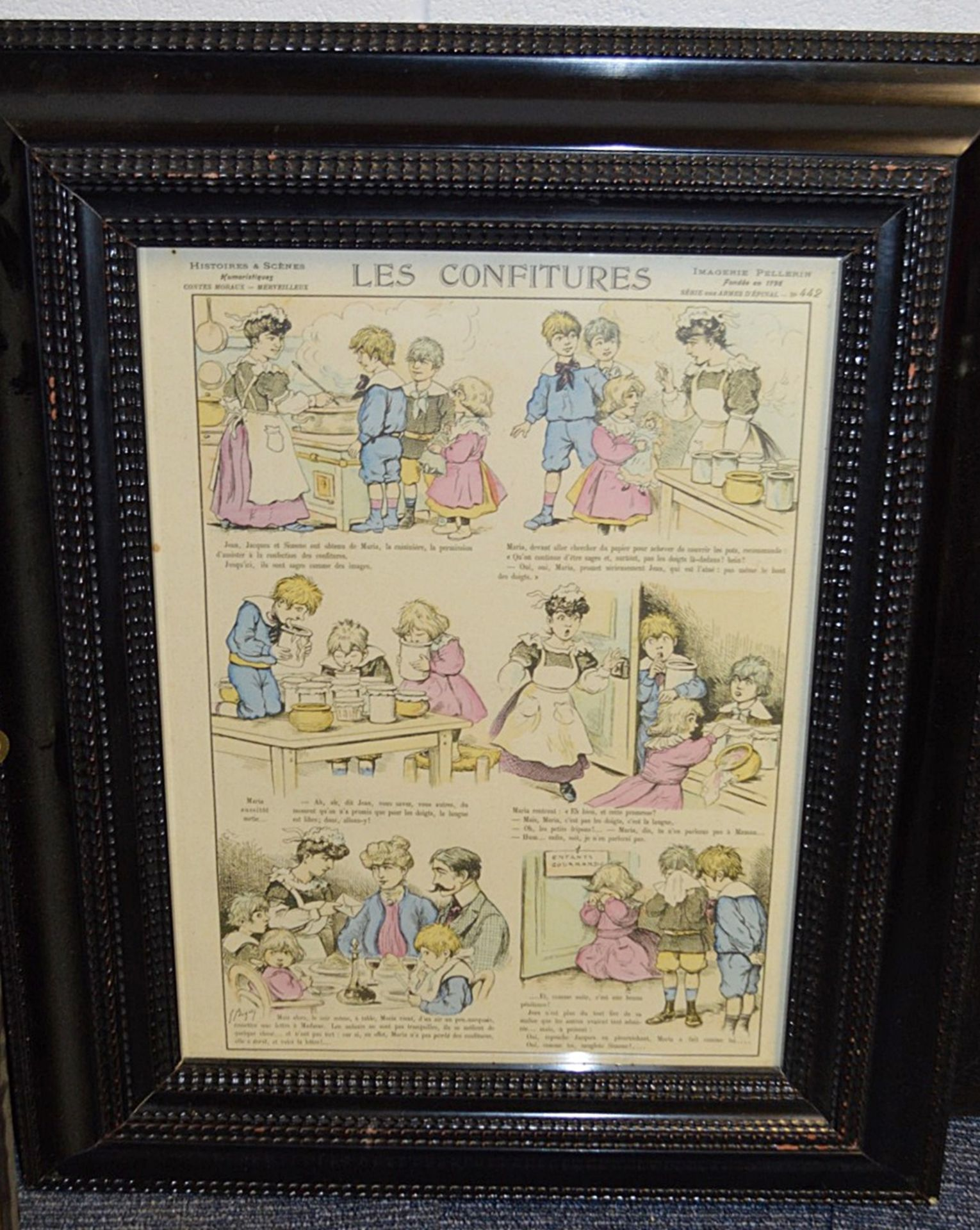 Lot 7505 - 4 x Framed Art Prints Of Bygone Bakery And Confectionery - Dimensions (approx) 47 x 57cm - Ref: