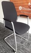 4 x Kinnarps 5000CV Meeting Chairs In Black - Dimensions: W59 x H92 x D53, Seat 45cm - Made In