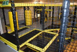 1 x Multilevel Childrens Soft Playcentre With Climbing Tubes, Slide, Ball Pits, Crazy Mirrors and