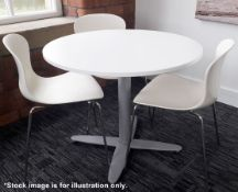 1 x Kinnarps Branded Round Coffee Meeting Table (No Chairs) - Dimensions: Height 73, Diameter 90cm