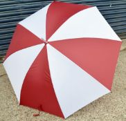 24 x Proline Golf Umbrellas - Colour: White And Burgundy - Brand New Sealed Stock - Dimensions: