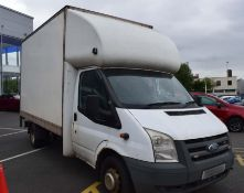 2008 Ford Transit 2.4 TDCi 350 Luton Body c/w Tail Lift- CL505 - Location: Corby,