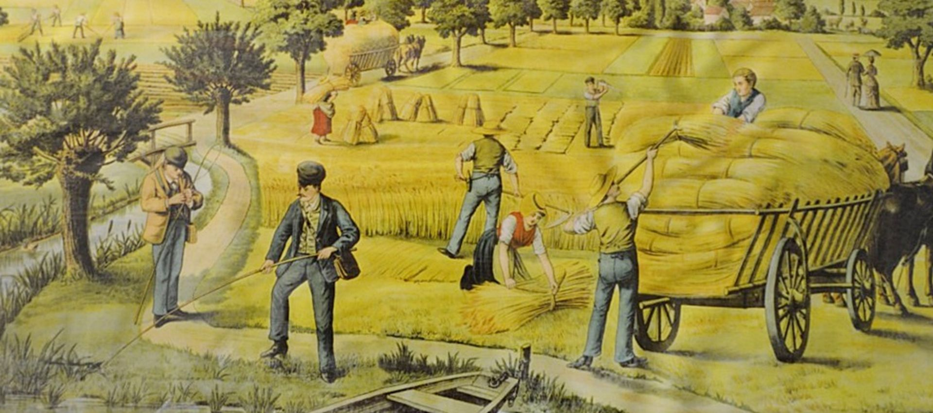 Lot 7428 - 1 x Large 1.6 Metre Long Framed Art Print Featuring A Countryside Scene - Dimensions: 162 x H81