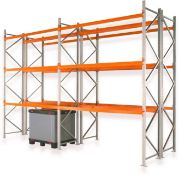9 x Bays of Apex Pallet Racking - Includes 10 x Apex 16 UK 16,000kg Capacity Uprights and 60 x