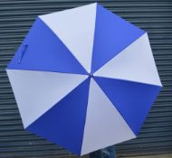 24 x Proline Golf Umbrellas - Colour: Royal Blue And White - Brand New Sealed Stock - Dimensions: