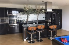 1 x Bespoke Kitchen in Black with Granite Worktops and a Selection of Lamona Appliances - CL508