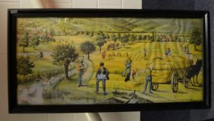 1 x Large 1.6 Metre Long Framed Art Print Featuring A Countryside Scene - Dimensions: 162xH81xD4cm