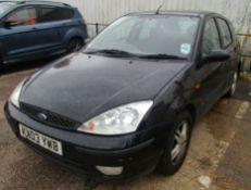2003 Ford Focus 1.6 i 16v Zetec 5Dr Hatchback - CL505 - NO VAT ON THE HAMMER - Location: Corby
