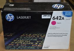 1 x Genuine HP LaserJet 642A Magnenta Printer Toner Cartridge - Suitable For CP4005dn and CP4005n