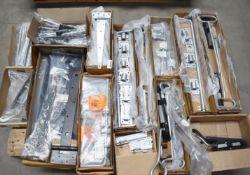 1 x Assorted Ironmongery Pallet Lot - Features Garage Door Drop Bolts, Drop Locks, Heavy Duty T