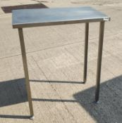 1 x Tall Stainless Steel Commercial Kitchen Prep Table - Dimensions: 76W x 46D x 92H cm - Very Recen