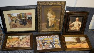 6 x Assorted Framed Art Prints Based Around Bakery - Various Sizes, Largest Is 60 x 45cm - Ref: Ma43