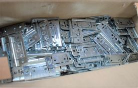 Approximately 260 x Zinc Plated 50mm Flush Hinges - Unused Stock From Hardware Retailer - CL538 -