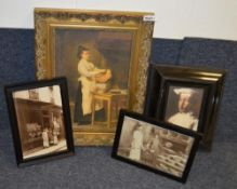 8 x Assorted Framed Art Prints Based Around Bakery - Various Sizes, Largest Is 85 x 68cm - Ref: Ma41