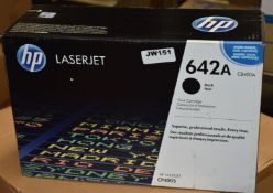 1 x Genuine HP LaserJet 642A Black Printer Toner Cartridge - Suitable For CP4005dn and CP4005n