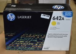1 x Genuine HP LaserJet 642A Yellow Printer Toner Cartridge - Suitable For CP4005dn and CP4005n