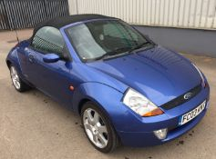 2003 Ford Streetka Luxury 1.3 2 Door Convertible - CL505 - NO VAT ON THE HAMMER - Location: Corby, N