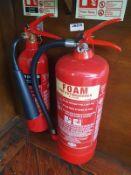 1 x Fire Extinguishers - Carbon Monoxide and Foam - CL532 - Ref JA215 - Location: London, EC4N
