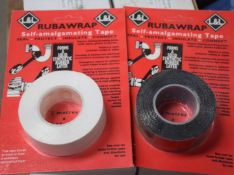 10 x Rubawrap Self-Amalgamating Tape - Forms a Solid Synthetic Rubber Layer on Pipes etc - Brand New