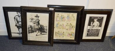 4 x Framed Art Prints Of Bygone Bakery And Confectionery - Dimensions (approx) 47 x 57cm - Ref: Ma43