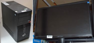 1 x Fujitsu Esprimo P420 Desktop PC With Hanns G 22 Inch Flat Screen Monitor - Features Intel i3-