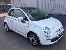 2009 Fiat 500 1.2 Lounge 3 Dr Hatchback - NO VAT ON THE HAMMER - Location: Corby
