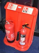 2 x Fire Extinguishers With Stand - Includes 6L Foam and 2kg Carbon Dioxide -Ref: FF155 D - CL544 -