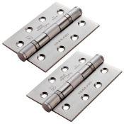 26 x Triple Packs of Eurospec Satin Stainless Steel Door Hinges - Size 102x76x3mm - Grade 13 -