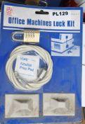 7 x Star Wheel Office Machine Lock Kits - Brand New Stock - RRP £280 - CL538 - Ref: Pallet in2-