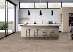 6 x Boxes of RAK Porcelain Floor or Wall Tiles - Borgogna Stone Beige Natural - 75 x 75 cm Tiles