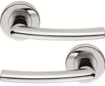 3 x Pairs of Serozzetta Dos Internal Door Handle Levers in Polished Chrome- Brand New Stock -