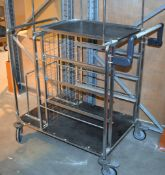 1 x Mobile Warehouse Picking / Transport Trolley - Dimensions: H108/143 x W104 x D64cm- CL533 - Ref