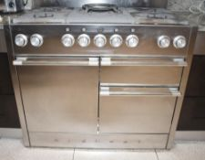 1 x MERCURY Duel Fuel 5-Burner Range Cooker In Stainless Steel - Dimensions (approx): W109 x D65 x H