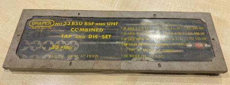 1 x Draper Tap and Die Set - no. 33 BSU BSF & UNF - 33 Piece - Location: Altrincham WA14