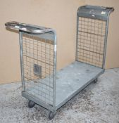 3 x Platform Trolleys With Heavy Duty Wheels, Two Handles and Waste Bag Holder - Features a 100 x 46