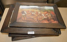 7 x Assorted Framed Art Prints Based Around Bakery - Various Sizes - Ref628 - CL481 - WH2 RT - Locat