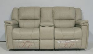 1 x Thomas Payne Reclining Wallhugger Theater Seating Love Seat Couch With Center Console and